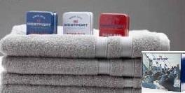 Westport handdukar, 4 pack 2 st 50x70 + 2 st 70x130 Grå