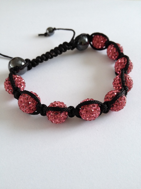 Shamballa armband rosa bling - DesignOasen - Väskor d01b885edc5d8