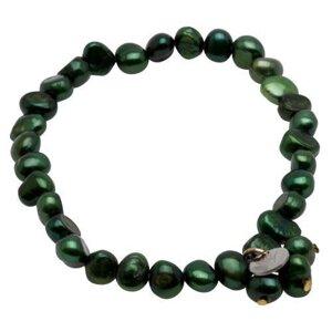 Pearls for Girls armband med gröna pärlor