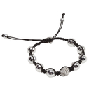Pearls for Girls armband, shamballa-stil