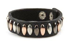 VÅGA smycken, läderarmband svart