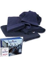 Westport handdukar, 4 pack 2 st 50x70 + 2 st 70x130 Blå
