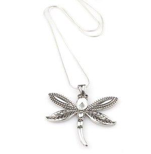 VÅGA smycken, halsband med trollslända 85 cm