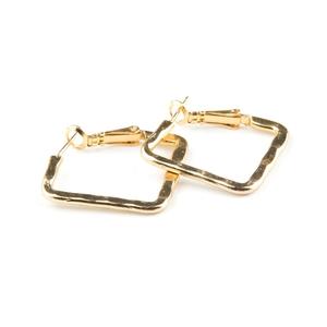 VÅGA smycken, örhängen kvadrat, guld