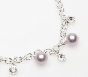 Pearls for Girls. Halsband med rosa pärlor, längd 45 cm