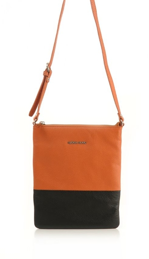 Björn Borg Bags. Axelväska, skinn, Leather shoulderbag S High, orange/svart.