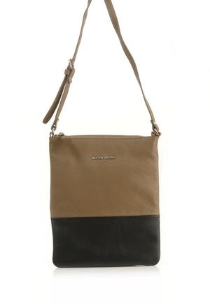 Björn Borg Bags. Axelväska, skinn, Leather shoulderbag S High, brun/svart.