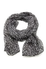 VÅGA scarf, små stjärnor svart