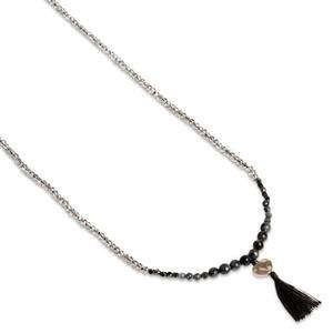 Pearls for Girls halsband 90 cm svart med tofs