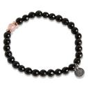Pearls for Girls armband agat svart små pärlor