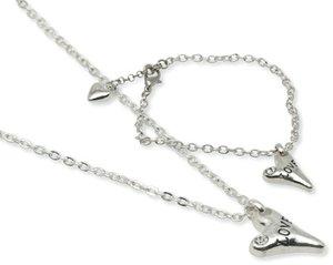 Pearls for Girls. Silverpläterat set halsband och armband