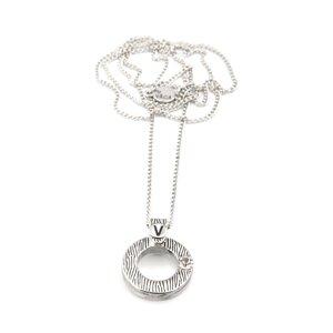 VÅGA smycken, halsband 42 cm ring, Kara zebra