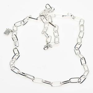 Pearls for Girls. Silverpläterad kedja, längd 90 cm