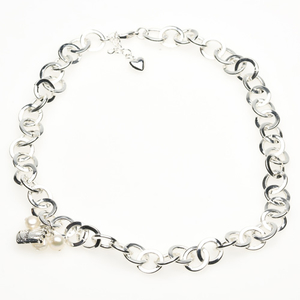 Pearls for Girls. Silverpläterad kedja, längd 80 cm
