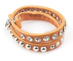 VÅGA smycken, läderarmband, orange
