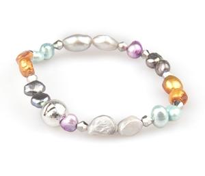 VÅGA smycken, pärlarmband enkel multi