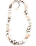 VÅGA smycken, halsband 43 cm rosa/brun