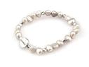 VÅGA smycken, pärlarmband grå