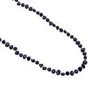 Pearls for Girls halsband med mörkblå pärlor, längd 90 cm