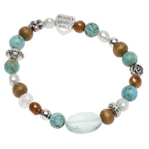 Pearls for Girls. Armband med gröna pärlor