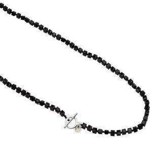Pearls for Girls halsband svart, längd 85 cm