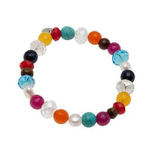 Pearls for Girls. Armband med färgmix