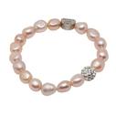 Pearls for Girls. Armband med rosa pärlor och bling