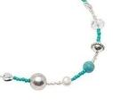 Pearls for Girls. Halsband med grönblå pärlor, längd 45 cm